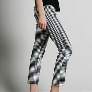 Free People | Cropped checkered pants